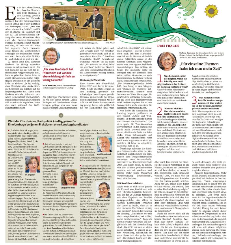 Bericht Pforzheimer Zeitung 17.04.21